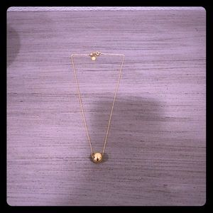Gorjana Newport adjustable gold necklace.